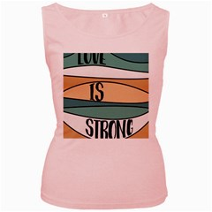 Love Sign Romantic Abstract Women s Pink Tank Top