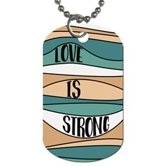 Love Sign Romantic Abstract Dog Tag (two Sides)