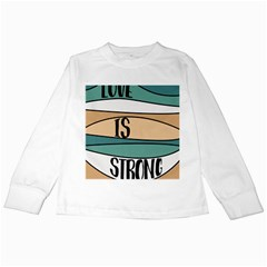 Love Sign Romantic Abstract Kids Long Sleeve T Shirts