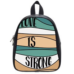 Love Sign Romantic Abstract School Bag (small)
