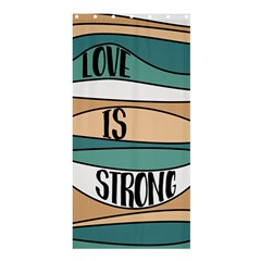 Love Sign Romantic Abstract Shower Curtain 36  X 72  (stall)