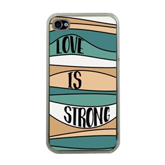 Love Sign Romantic Abstract Apple Iphone 4 Case (clear)