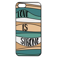 Love Sign Romantic Abstract Apple Iphone 5 Seamless Case (black)