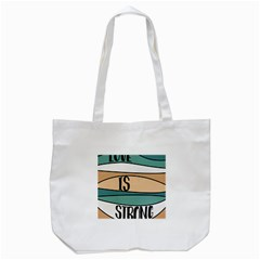 Love Sign Romantic Abstract Tote Bag (white)