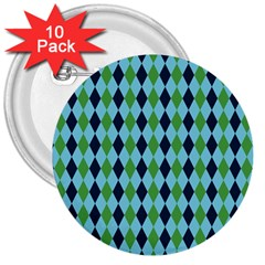 Rockabilly Retro Vintage Pin Up 3  Buttons (10 Pack)
