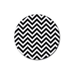 Wave Background Fashion Rubber Coaster (round)