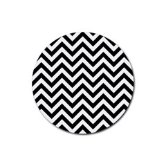 Wave Background Fashion Rubber Round Coaster (4 Pack)