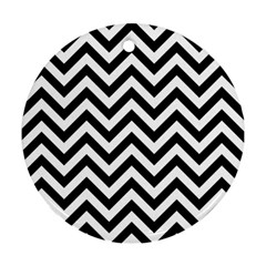 Wave Background Fashion Round Ornament (two Sides)