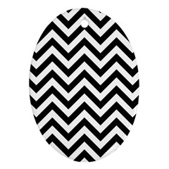 Wave Background Fashion Oval Ornament (two Sides)