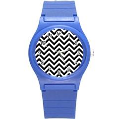 Wave Background Fashion Round Plastic Sport Watch (s)