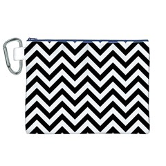 Wave Background Fashion Canvas Cosmetic Bag (xl)
