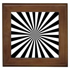 Rays Stripes Ray Laser Background Framed Tiles