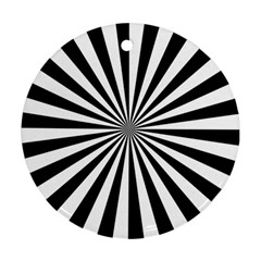 Rays Stripes Ray Laser Background Ornament (round)