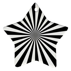 Rays Stripes Ray Laser Background Ornament (star)