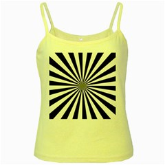 Rays Stripes Ray Laser Background Yellow Spaghetti Tank