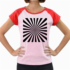 Rays Stripes Ray Laser Background Women s Cap Sleeve T Shirt