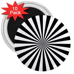 Rays Stripes Ray Laser Background 3  Magnets (10 Pack)