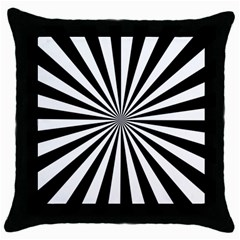Rays Stripes Ray Laser Background Throw Pillow Case (black)