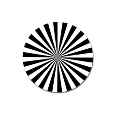 Rays Stripes Ray Laser Background Magnet 3  (round)