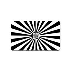 Rays Stripes Ray Laser Background Magnet (name Card)