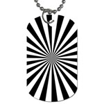 Rays Stripes Ray Laser Background Dog Tag (Two Sides) Back