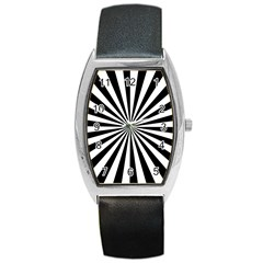 Rays Stripes Ray Laser Background Barrel Style Metal Watch