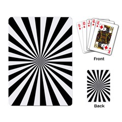 Rays Stripes Ray Laser Background Playing Card