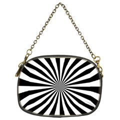 Rays Stripes Ray Laser Background Chain Purses (two Sides)