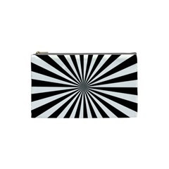 Rays Stripes Ray Laser Background Cosmetic Bag (small)