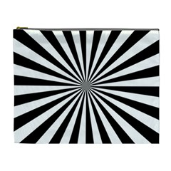 Rays Stripes Ray Laser Background Cosmetic Bag (xl)