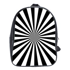 Rays Stripes Ray Laser Background School Bag (large)