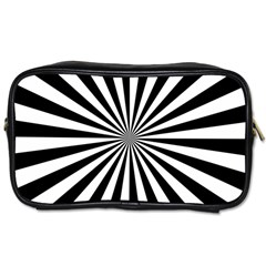 Rays Stripes Ray Laser Background Toiletries Bags 2 Side