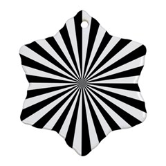 Rays Stripes Ray Laser Background Ornament (snowflake)