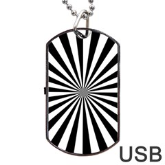 Rays Stripes Ray Laser Background Dog Tag Usb Flash (two Sides)
