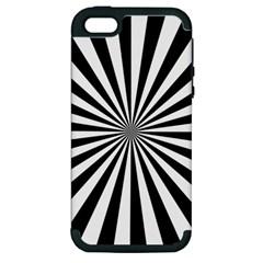 Rays Stripes Ray Laser Background Apple Iphone 5 Hardshell Case (pc+silicone)