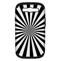 Rays Stripes Ray Laser Background Samsung Galaxy S Iii Hardshell Case (pc+silicone)