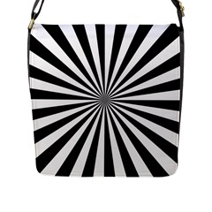 Rays Stripes Ray Laser Background Flap Messenger Bag (l)