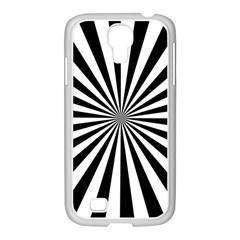 Rays Stripes Ray Laser Background Samsung Galaxy S4 I9500/ I9505 Case (white)