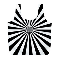 Rays Stripes Ray Laser Background Full Print Recycle Bags (l)