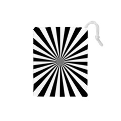 Rays Stripes Ray Laser Background Drawstring Pouches (small)