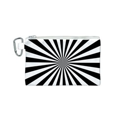 Rays Stripes Ray Laser Background Canvas Cosmetic Bag (s)