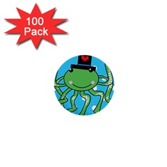 Octopus Sea Animal Ocean Marine 1  Mini Buttons (100 Pack)