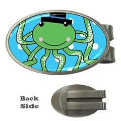 Octopus Sea Animal Ocean Marine Money Clips (oval)