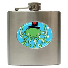 Octopus Sea Animal Ocean Marine Hip Flask (6 Oz)