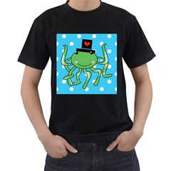 Octopus Sea Animal Ocean Marine Men s T Shirt (black) (two Sided)