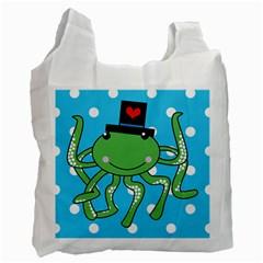 Octopus Sea Animal Ocean Marine Recycle Bag (two Side)