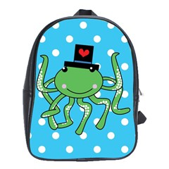 Octopus Sea Animal Ocean Marine School Bag (large)