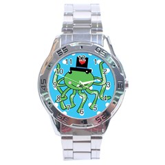Octopus Sea Animal Ocean Marine Stainless Steel Analogue Watch