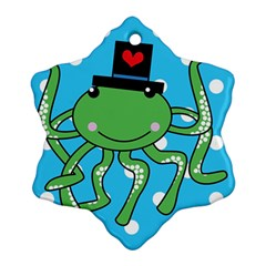Octopus Sea Animal Ocean Marine Ornament (snowflake)