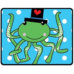 Octopus Sea Animal Ocean Marine Double Sided Fleece Blanket (medium)